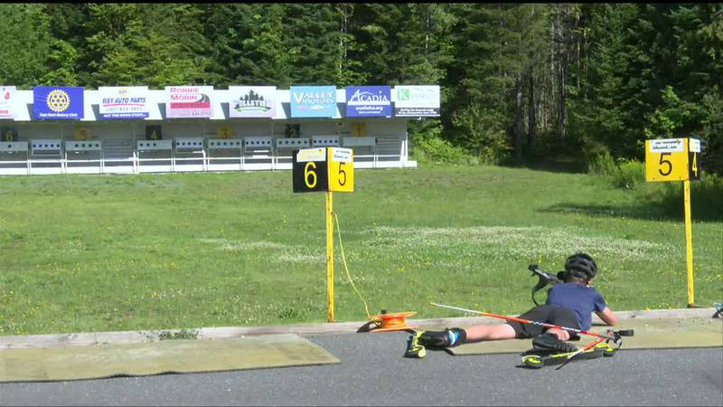Local biathletes prepare for national competition.