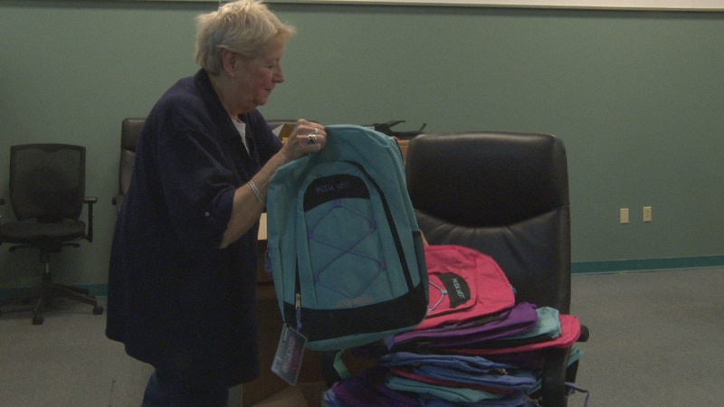 Local organizations help students with school supplies.