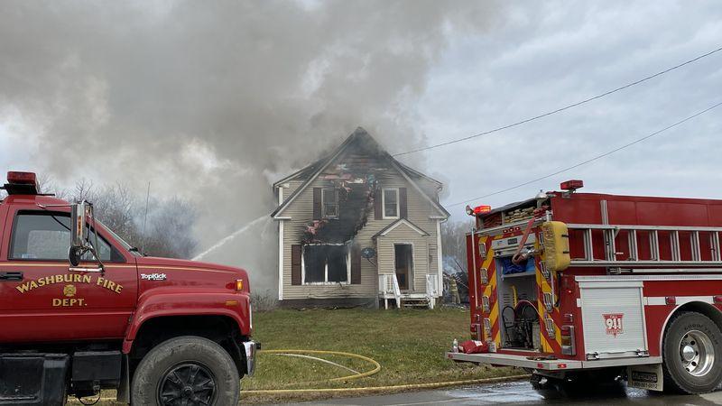 Fire in Washburn Friday Morning