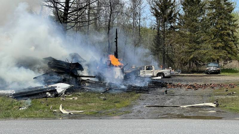 Structure Fire at Portage Lake