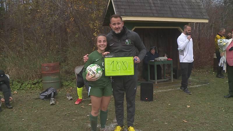 Abbie Lerman of Wisdom joins the 100 goal club