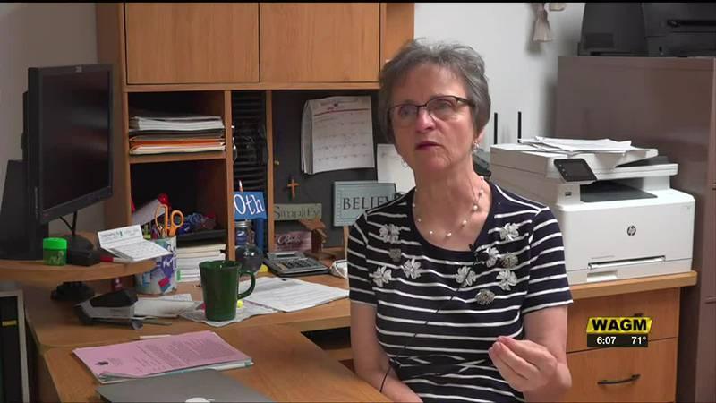 fern desjardins in her home office