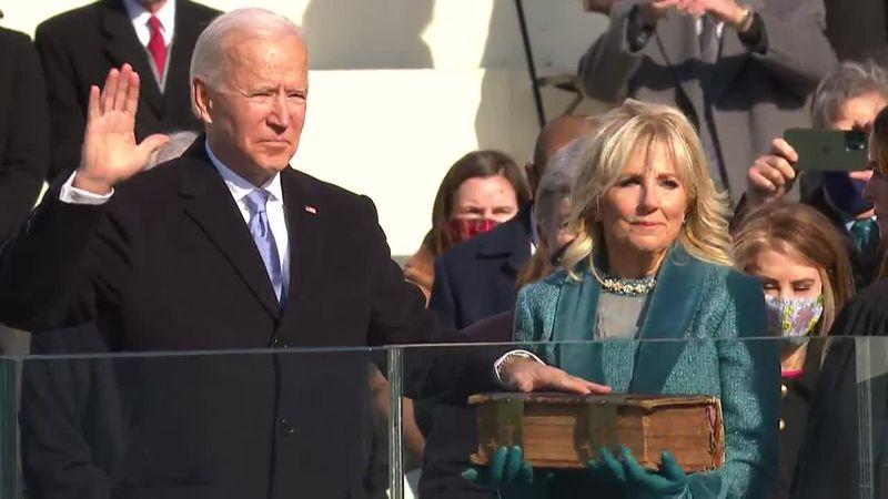 Joseph R. Biden is sworn in as the 46th president on Wednesday.