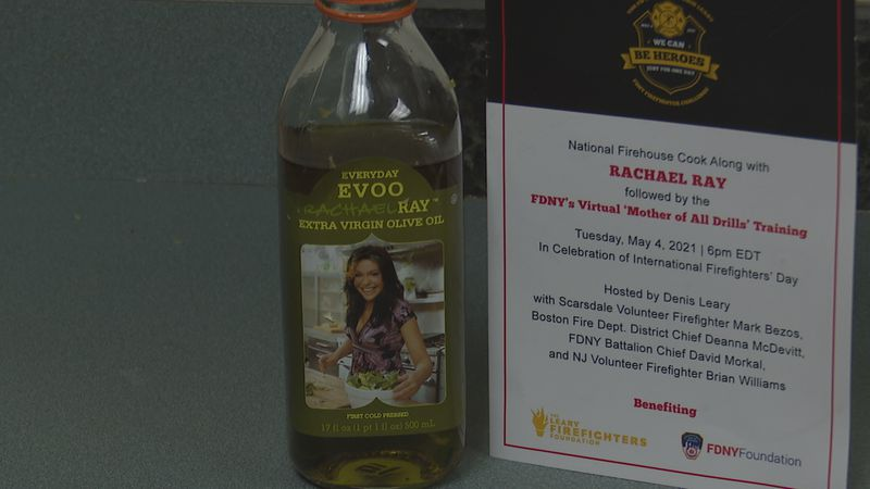 Local Firefighters cook with Rachel Ray