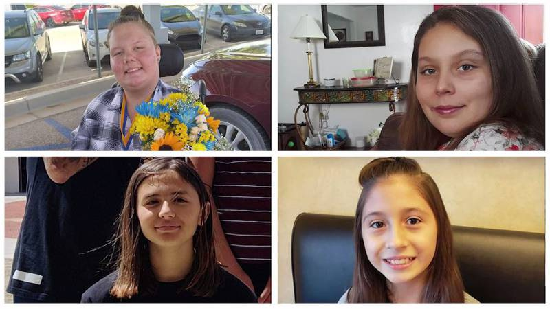 Natalie Coe, 14, (upper left) is in critical condition in the hospital after a hit-and-run that...