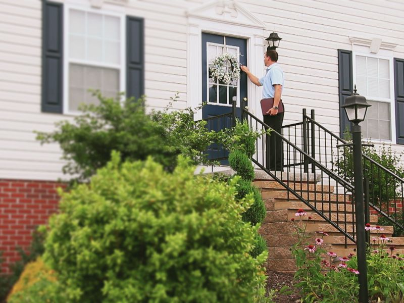 Door-to-door sales begin, causing some concern for residents