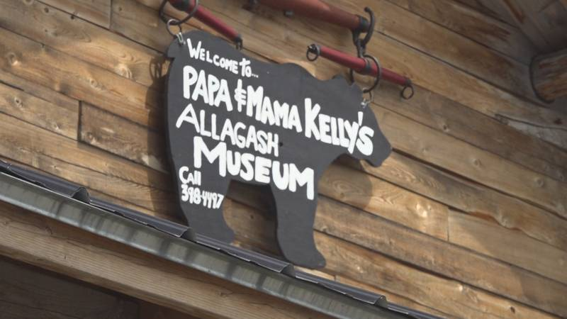 The sign at Kelly's museum