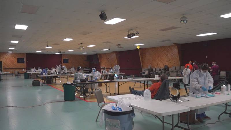 People in Aroostook County without dental insurance had the chance to have free dental screenings
