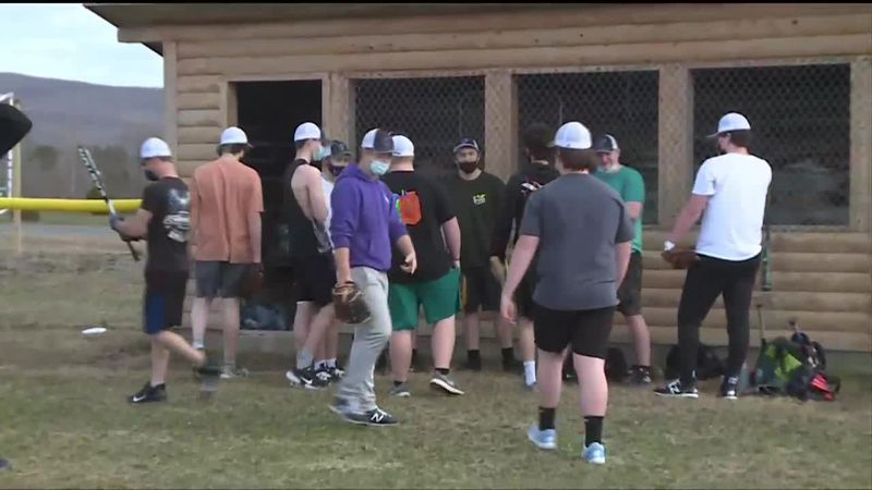 The Houlton Shiretowners did not have enough players to compete this year so two of their...