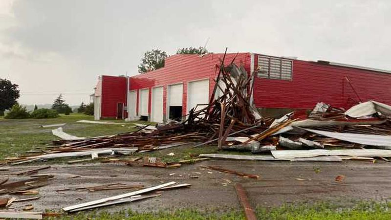 A strong storm triggered a tornado warning for parts of Piscataquis and Aroostook counties...