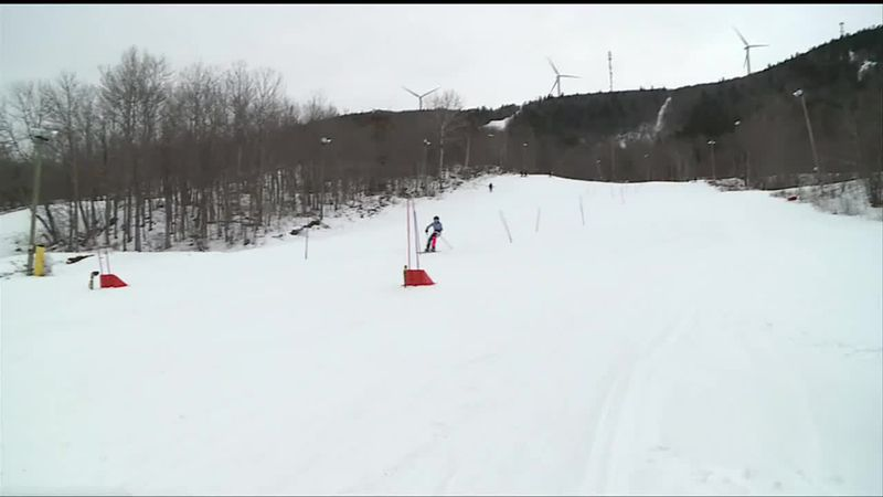Alpine skiers hold their first meet of the season