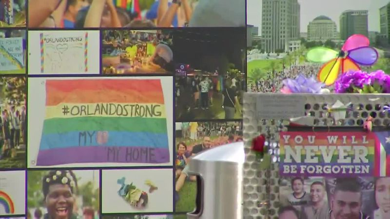 The club located south of downtown Orlando has been turned into an interim memorial lined with...
