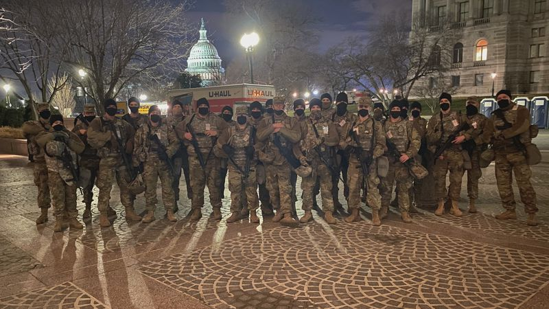 County National Guard Soldiers in Washington D.C.