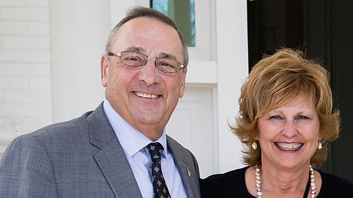 Governor Paul LePage and Ann LePage, who served as Maine's First Lady