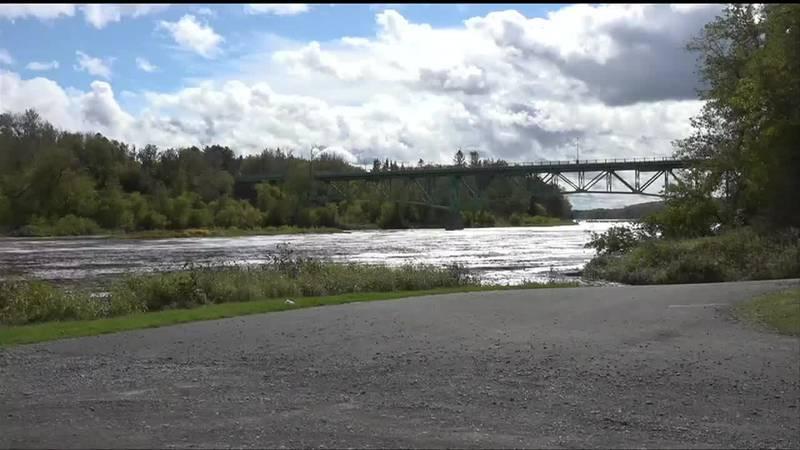 The Aroostook river under rt 161