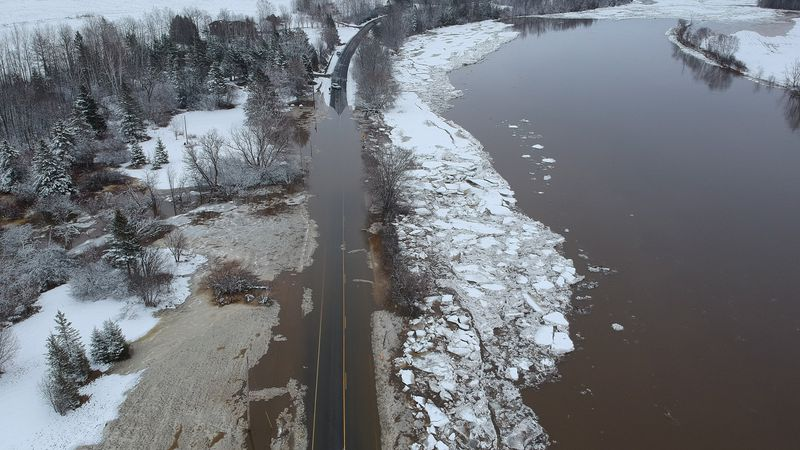 Ice Jams Cause Flooding in Aroostook County