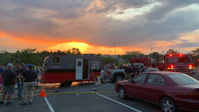 Paddy Wagon Catches Fire at Rockin' on Riverside
