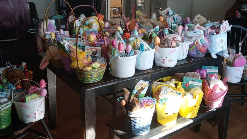 County Residents Make Easter Baskets for Those in Need