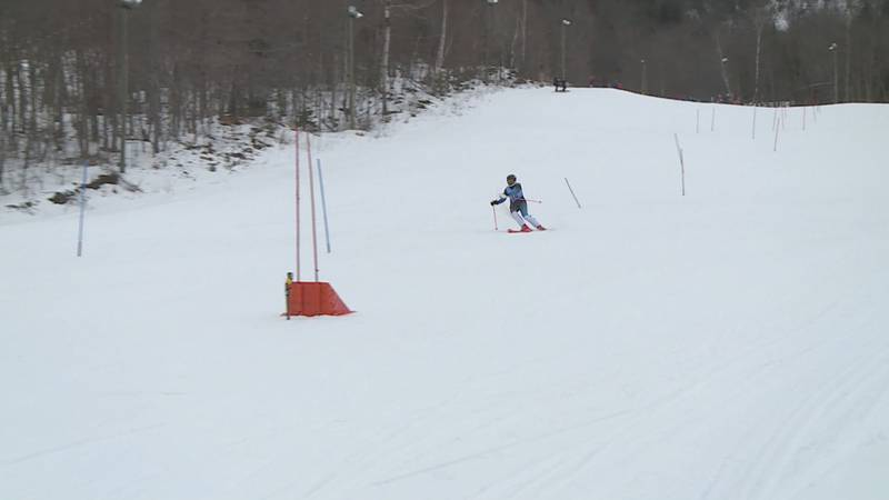Some alpine skiers from the County held their first competition of the year.