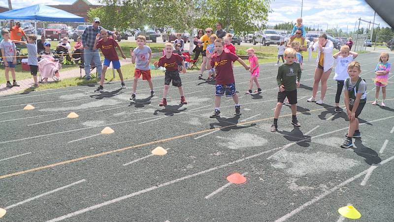 Over 200 youngsters compete in the Northern Track and Field meet