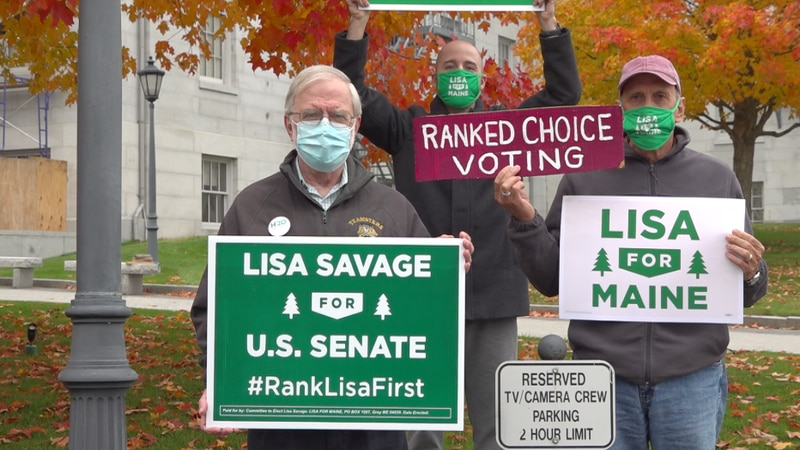 Lisa Savage and Howie Hawkins make campaign stops in Maine.