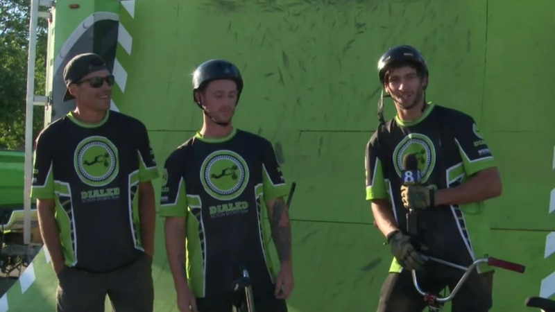 Dialed Action Sports Team promotes positive message and showcases bike skills.