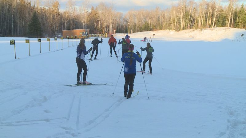 Skiers in Fort Kent were able to hit the trails for the first time this season.