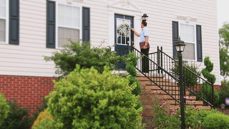 Door-to-door sales begin, causing some concern for residents