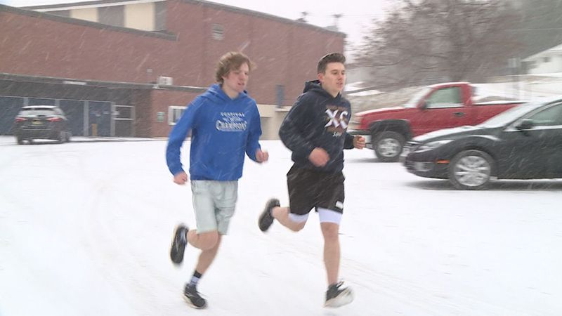 Two High School seniors decided they wanted to run a 26.2 miles without training for it.