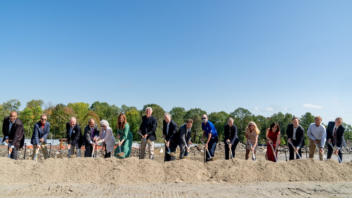 WATERVILLE, MAINE - SEPTEMBER 18: Images of the groundbreaking ceremony for the Gordon Center...