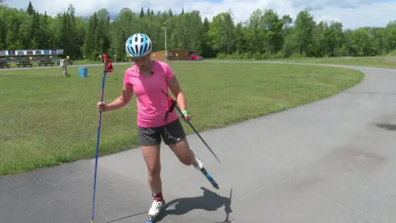 Roller skiing helps you ski without snow.