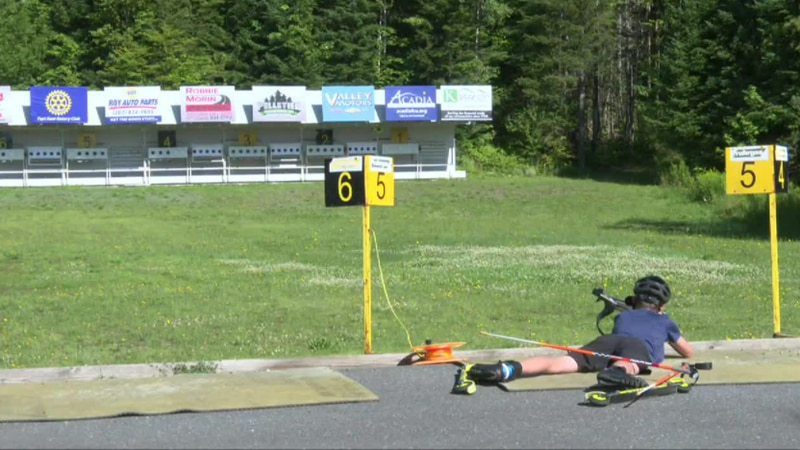 Biathletes prepare for national competition.