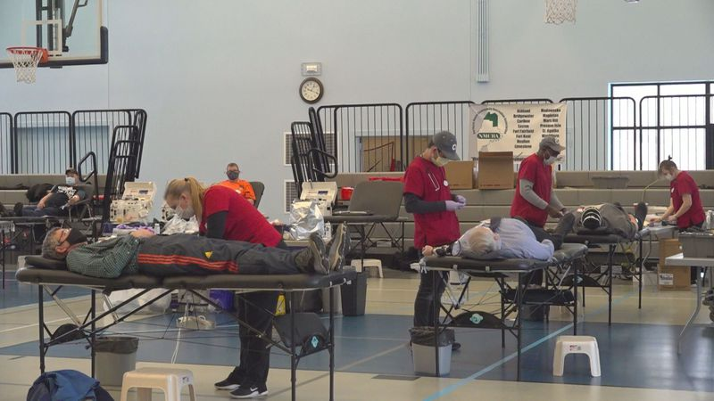 The American Red Cross blood drive in Presque Isle, ME