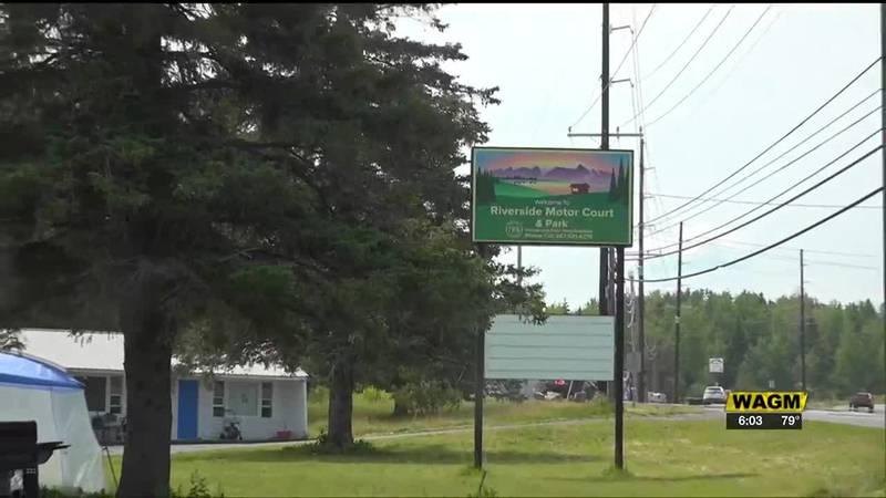Riverside Motor Court Motel in Caribou