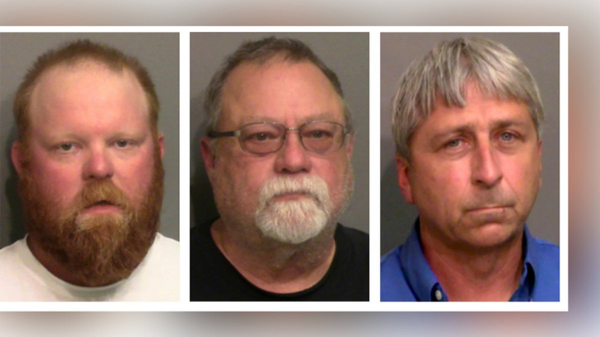 FILE - This combo of booking photos provided by the Glynn County Detention Center shows, from...