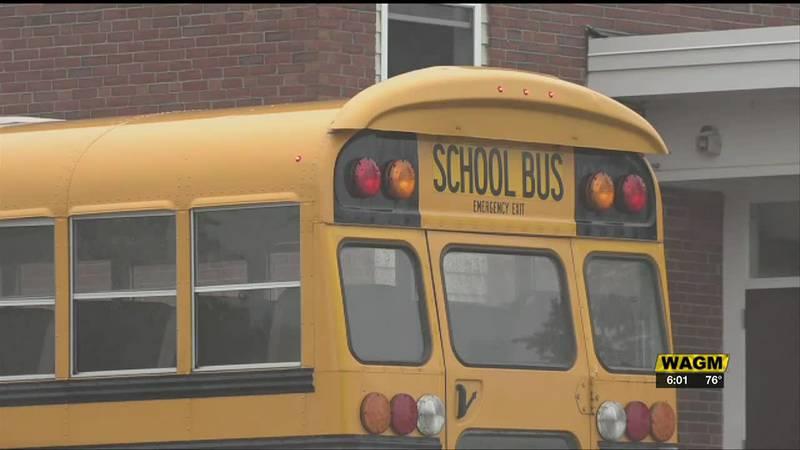 School bus at RSU29