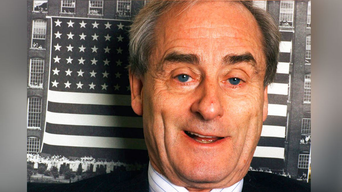 "In this Nov. 18, 1998 file photo, journalist Harold Evans talks about his new book, ""The American Century,"" at his office in New York. Evans, the charismatic publisher, author and muckraker, has died at 92. His wife, fellow author-publisher Tina Brown, said he died of congestive heart failure, it was reported on Thursday, Sept. 24, 2020. He was a bold-faced name for decades, from exposing wrongdoing in 1960s London, to publishing such 1990s best-sellers as Joe Klein's ""Primary Colors."""