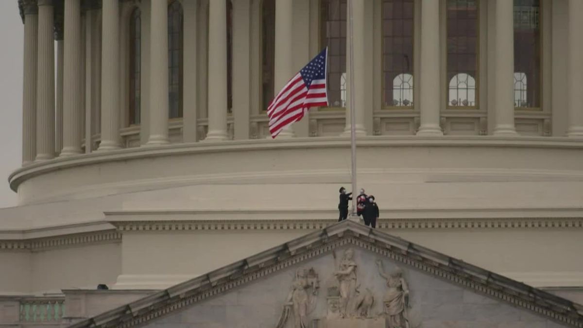 The U.S. Capitol flags were ordered to be flown at half-staff for fallen U.S. Capitol Police...