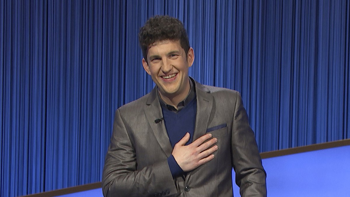 """This photo provided by Jeopardy Productions Inc. shows """"Jeopardy!"""" contestant Matt Amodio..."""