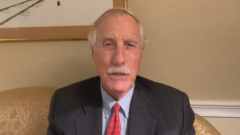 Senator Angus King gave his response to the debate, noting the need for more moderator control...