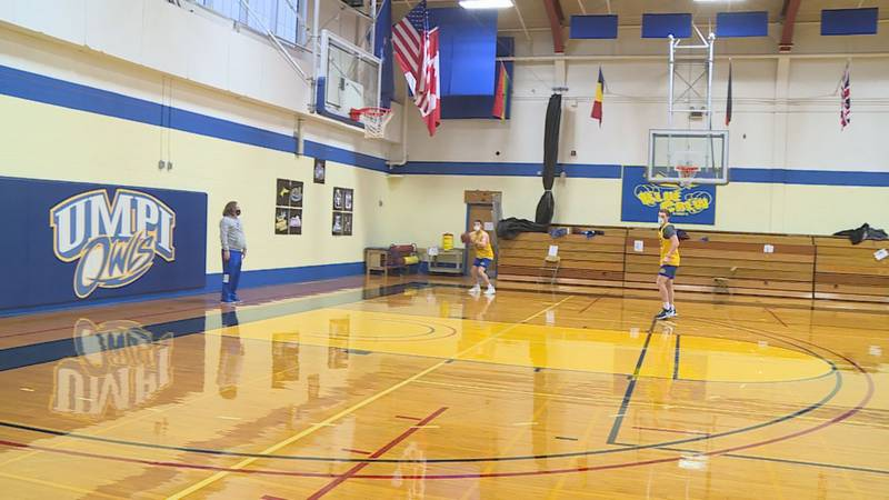The University of Maine Presque Isle basketball teams are now holding full practices.