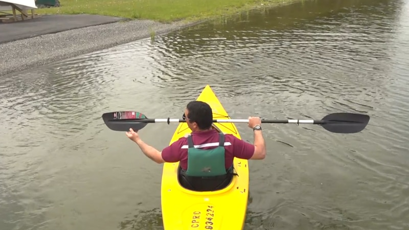 Kayaking is a great way to be social and cool off.