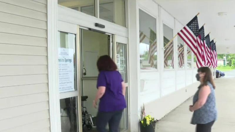 Friendly Volunteers help people in Aroostook County.