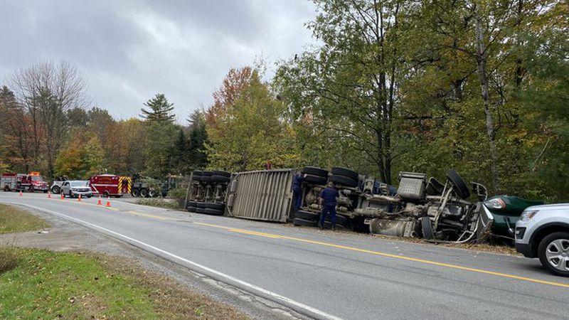 Tractor trailer rollover