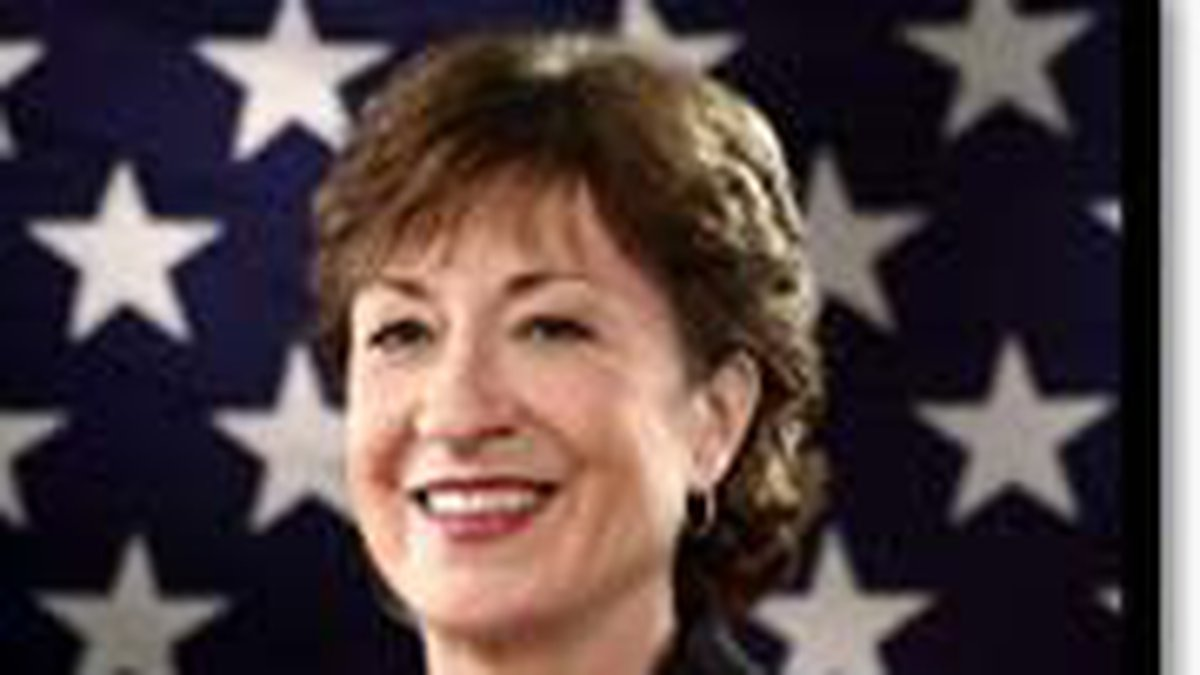 Senator Susan Collins taking part in a panel discussion about the formation of the 9/11...