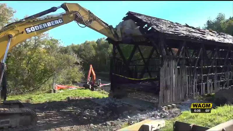 MDOT takes first part of the bridge built in Littleton 110 years ago