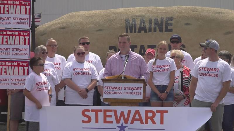 Stewart declaring his run against Congressman Jared Golden