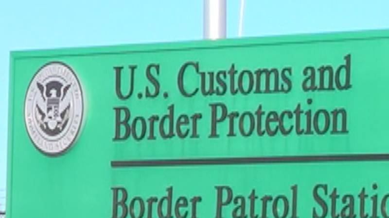 A US Customs and Border Protection sign
