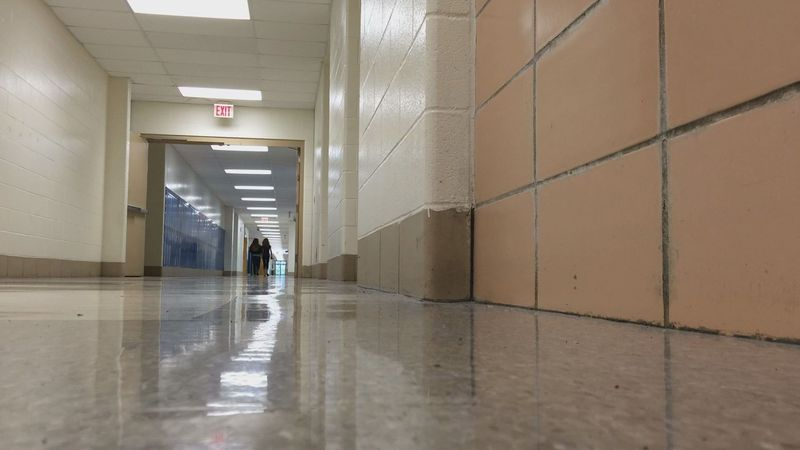 Kids walking down hallways
