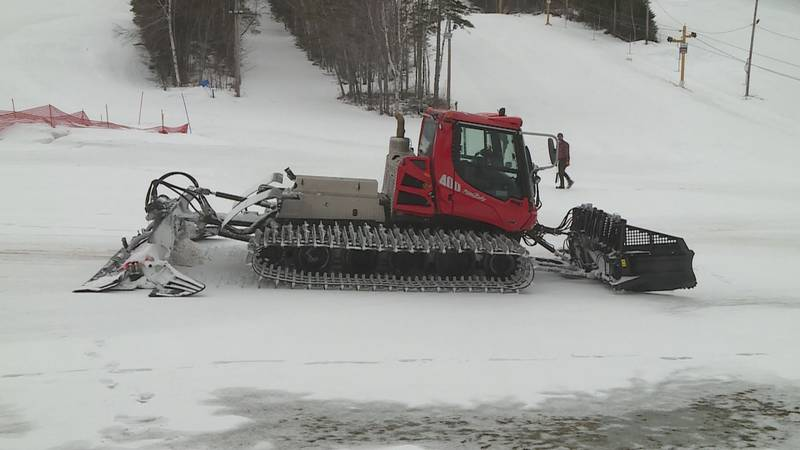 The community supports the ski area and helps purchase a new groomer